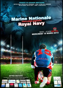 Match Marine Nationale/Royal Navy le 19 mars à Mayol