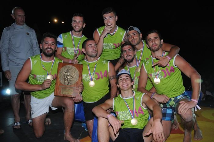 Les Minots de Gignac remportent le Beach Rugby Tour 2014