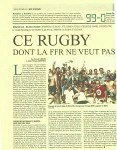 Midi Olympique: Ce Rugby dont la FFR ne veut pas