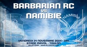 Barbarians / Namibie, 14 novembre 2014 au Stade Felix Mayol de Toulon