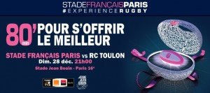 Stade français / Toulon, 28 décembre 2014