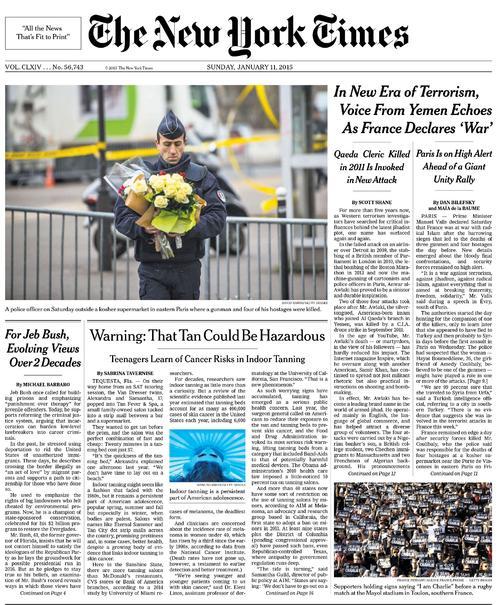 Les supporteurs du RCT en une du New York Times