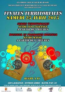 Finales territoriales 2015 du comité de rugby de Côte d'Azur