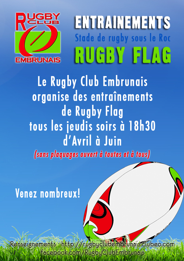 Entraînements Flag Rugby Club Embrun