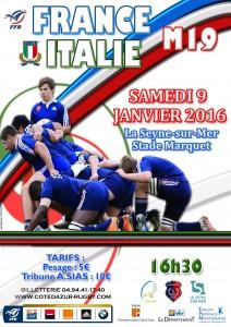 France / Italie U19, à La Seyne le 09 janvier
