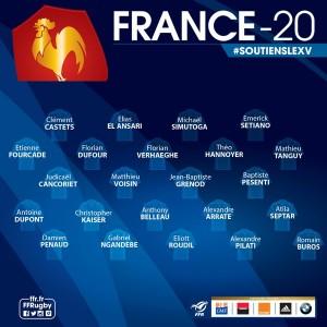 3 toulonnais dans le groupe France U20 l'Italie