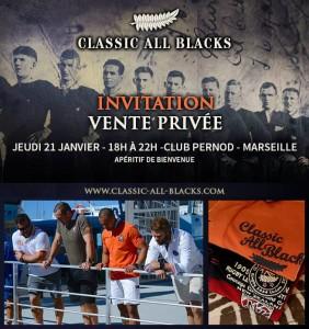 Vente privée Classic All Blacks au club Pernod