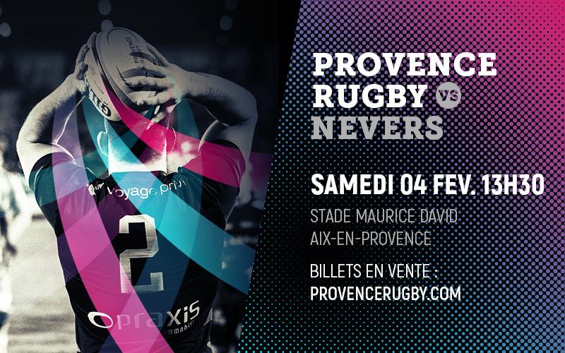 Provence Rugby / Nevers en direct sur la chaine L'Équipe