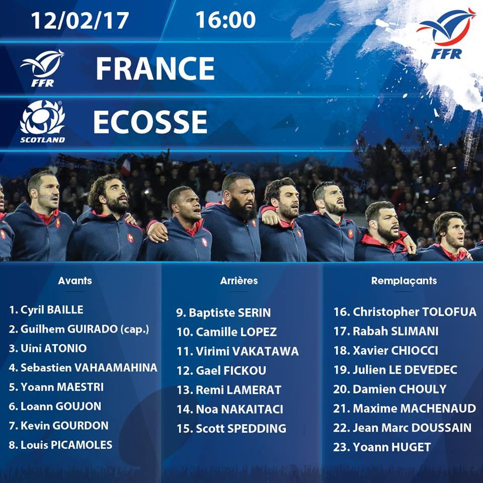 France / Ecosse, on reprend les mêmes... ou presque