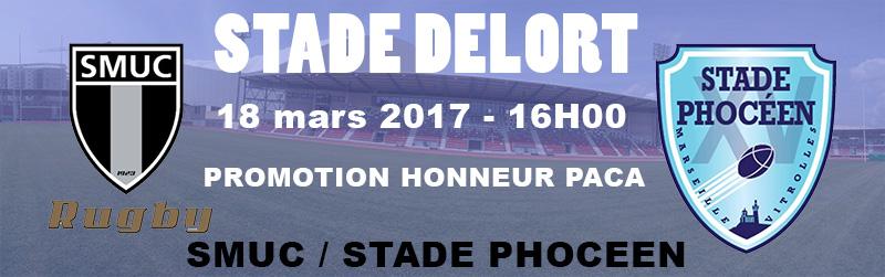 Derby SMUC/Stade Phocéen au Stade Delort 18 mars 2017 16H00