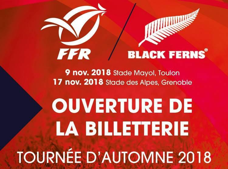 Billetterie ouverte France Féminine / Black Fern à Mayol