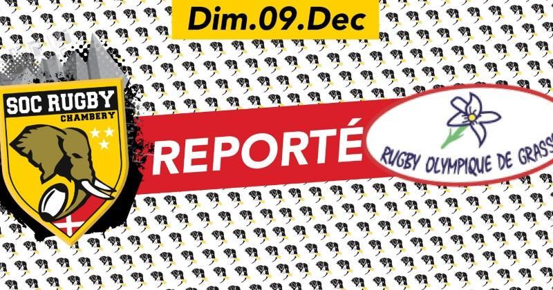Fédérale 1: Chambéry/Grasse reporté
